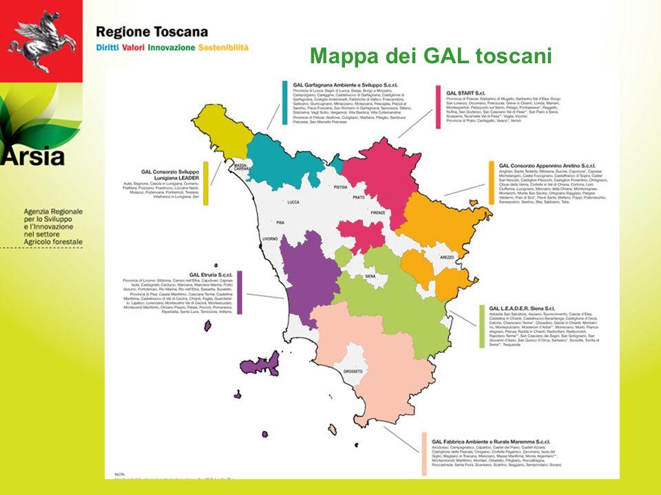 5 Mappa dei GAL toscani