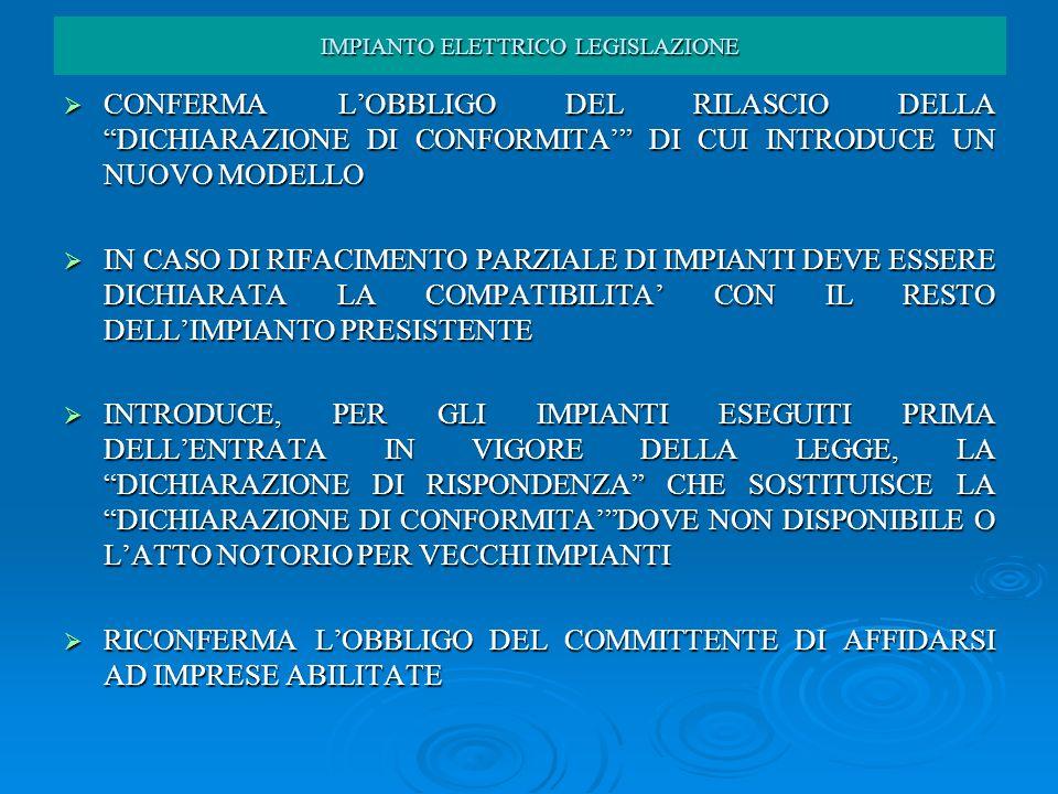CONFERMA LOBBLIGO DEL RILASCIO DELLA DICHIARAZIONE DI CONFORMITA DI CUI INTRODUCE UN NUOVO MODELLO CONFERMA LOBBLIGO DEL RILASCIO DELLA DICHIARAZIONE