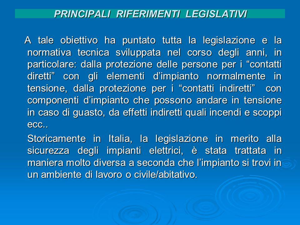 PRINCIPALI RIFERIMENTI LEGISLATIVI Testo Unico Art.81.