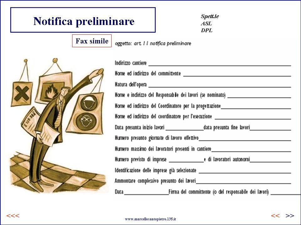… Notifica preliminare www.marcellosantopietro.135.it >><<<<<