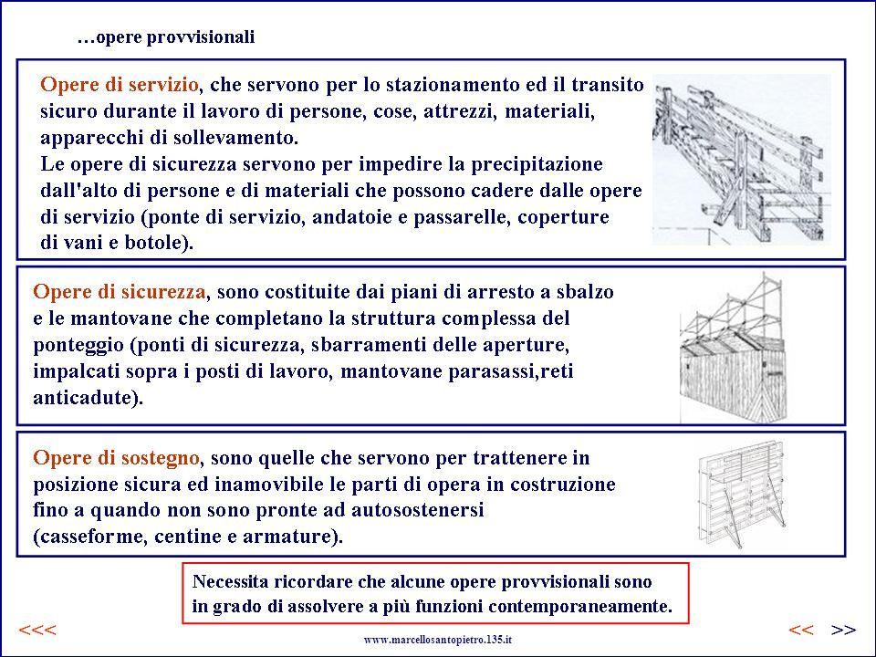 …opere provvisionali www.marcellosantopietro.135.it <<<>><<