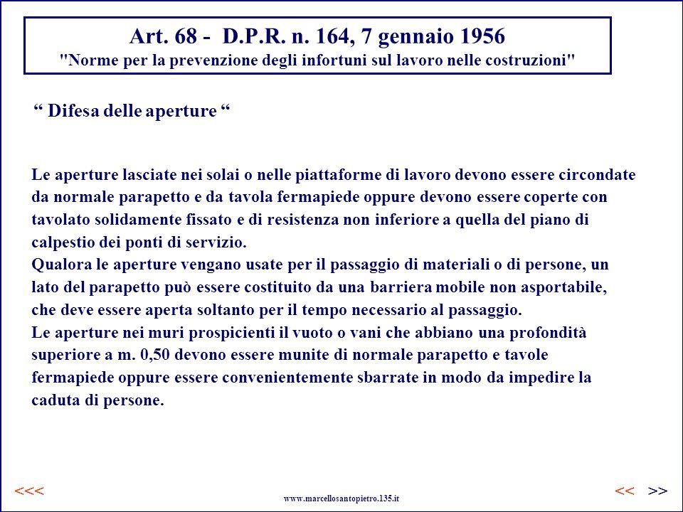 Art. 68 - D.P.R. n. 164, 7 gennaio 1956