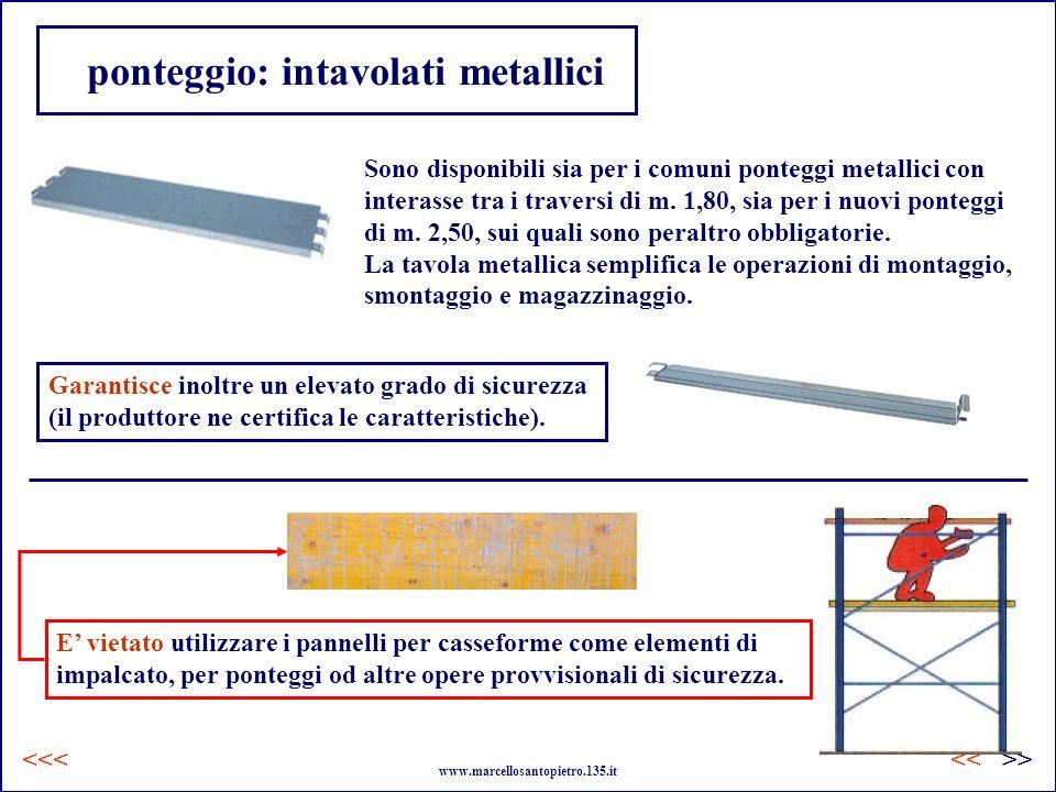 ponteggio: intavolati metallici Sono disponibili sia per i comuni ponteggi metallici con interasse tra i traversi di m. 1,80, sia per i nuovi ponteggi