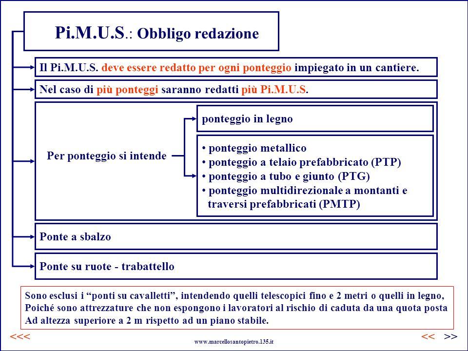 Pi.M.U.S.: Obbligo redazione Per ponteggio si intende Il Pi.M.U.S. deve essere redatto per ogni ponteggio impiegato in un cantiere. Nel caso di più po