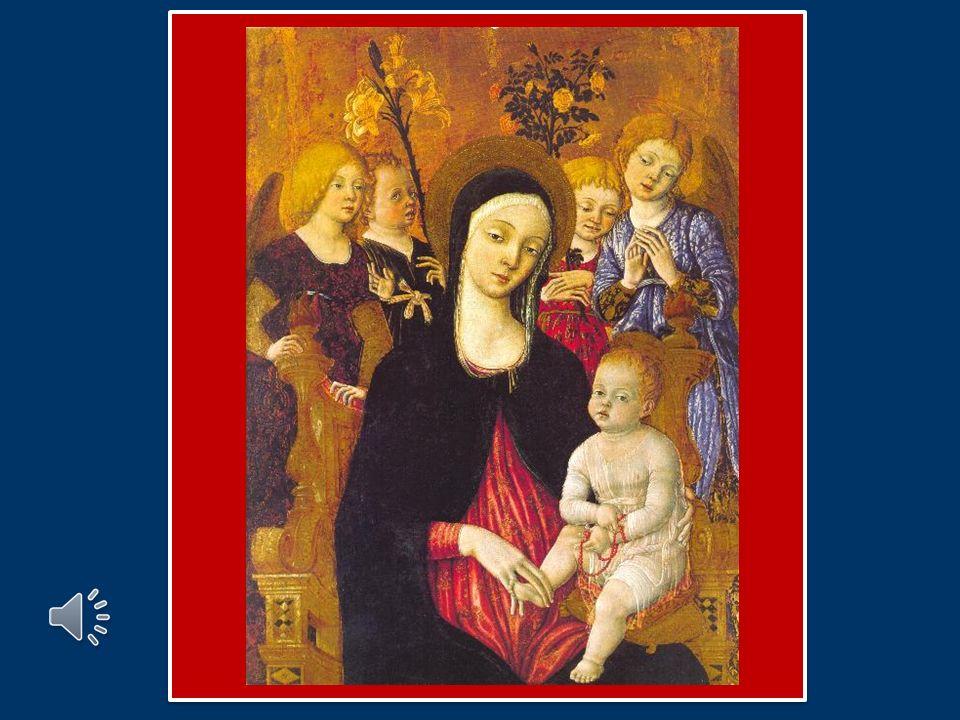 Preghiamo la Vergine Santa, affinché ci aiuti a nutrirci sempre con fede del Pane di vita eterna per sperimentare già sulla terra la gioia del Cielo.