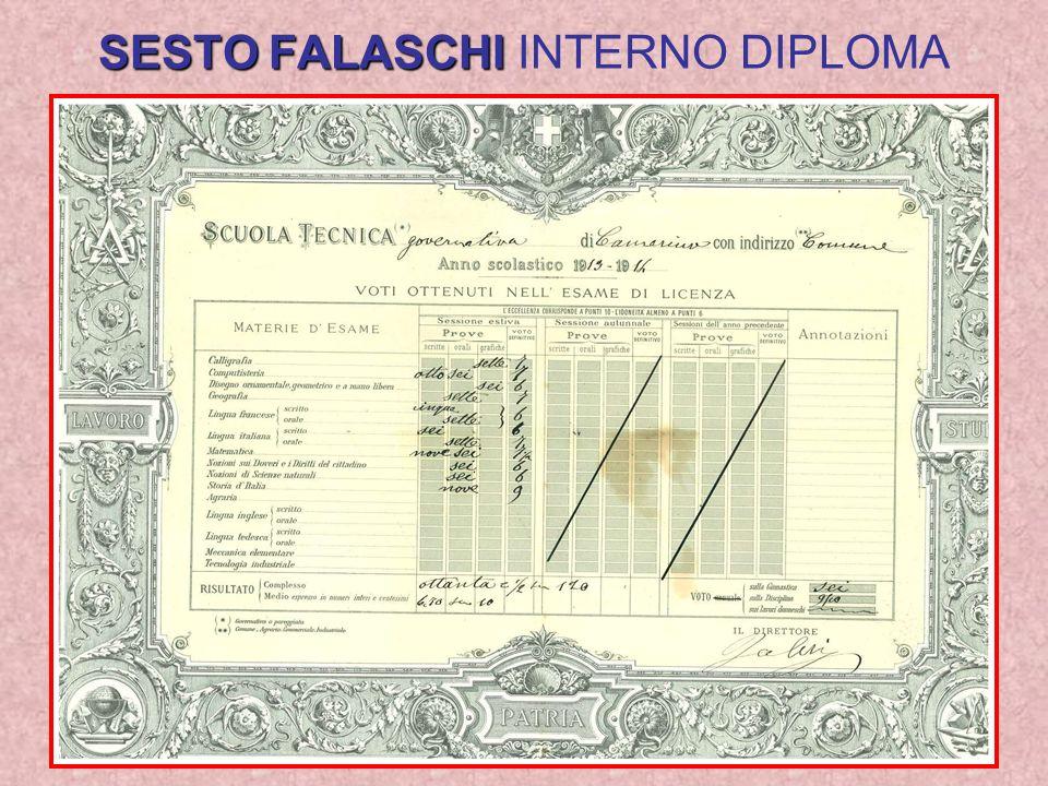 SESTO FALASCHI SESTO FALASCHI INTERNO DIPLOMA