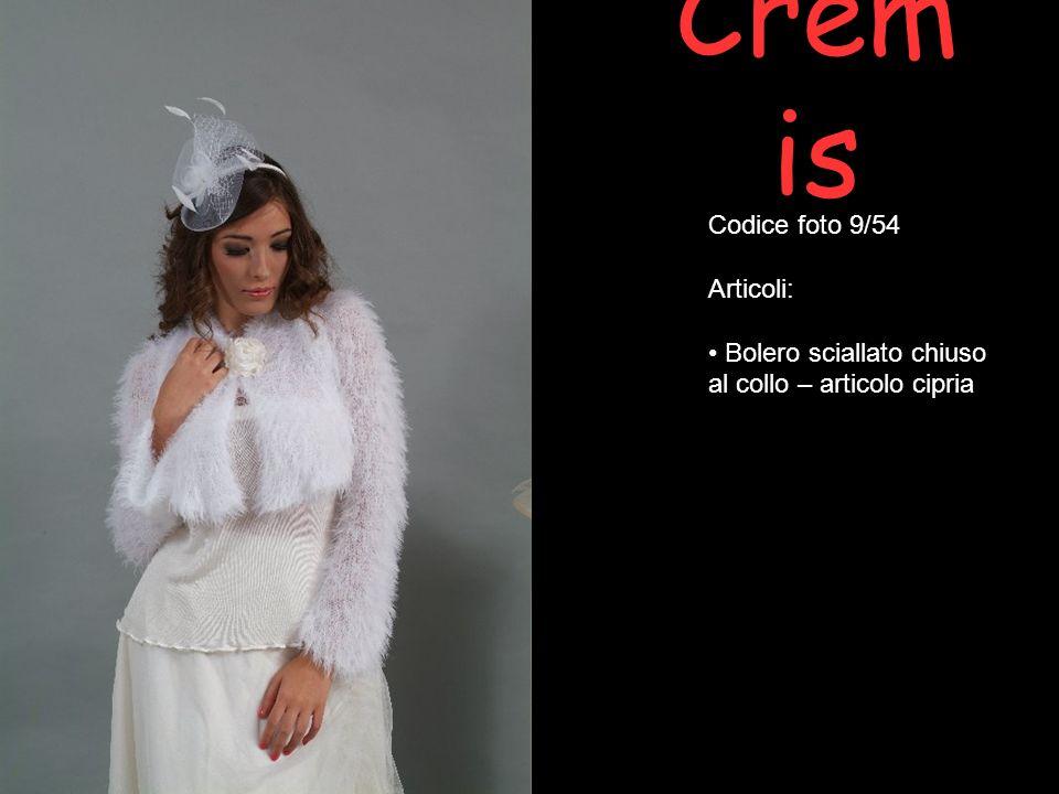 Crem is Codice foto 9/54 Articoli: Bolero sciallato chiuso al collo – articolo cipria