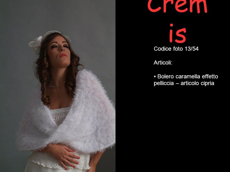 Codice foto 13/54 Articoli: Bolero caramella effetto pelliccia – articolo cipria