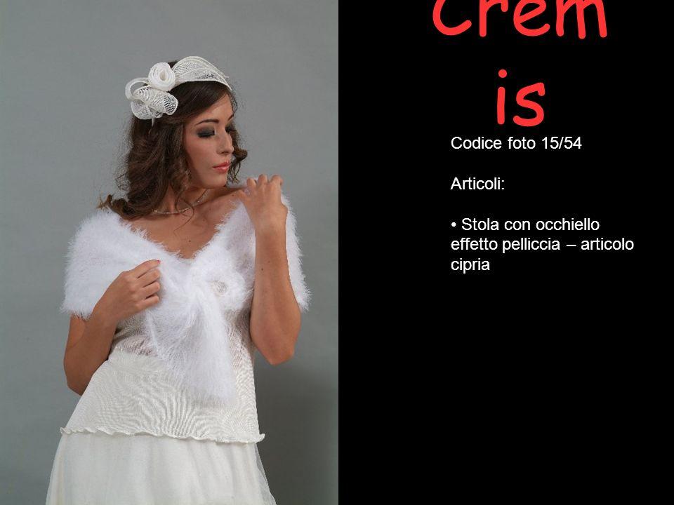 Crem is Codice foto 15/54 Articoli: Stola con occhiello effetto pelliccia – articolo cipria