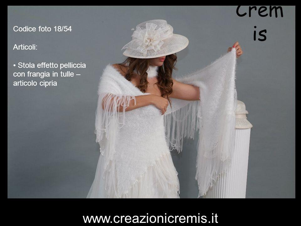 Crem is Codice foto 18/54 Articoli: Stola effetto pelliccia con frangia in tulle – articolo cipria www.creazionicremis.it