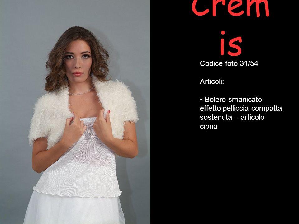 Crem is Codice foto 31/54 Articoli: Bolero smanicato effetto pelliccia compatta sostenuta – articolo cipria