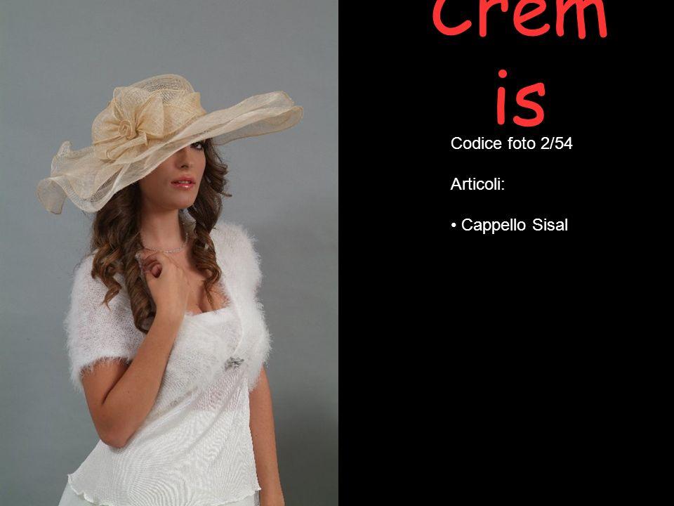 Crem is Codice foto 3/54 Articoli: Cappello Sisal