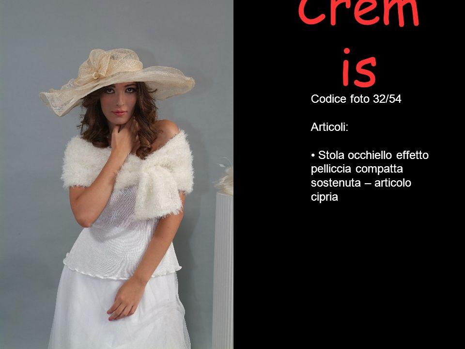 Crem is Codice foto 32/54 Articoli: Stola occhiello effetto pelliccia compatta sostenuta – articolo cipria