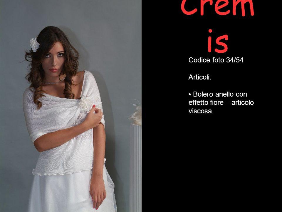 Crem is Codice foto 34/54 Articoli: Bolero anello con effetto fiore – articolo viscosa