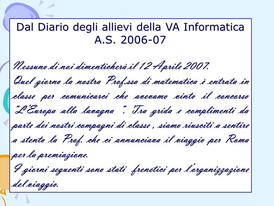 Dal Diario degli allievi della VA Informatica A.S.