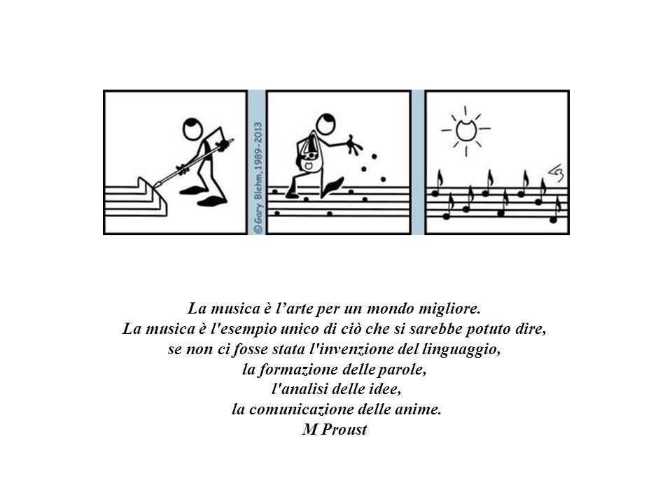 Quella della musica è una delle tre vie per le quali l'anima ritorna al Cielo. Torquato Tasso