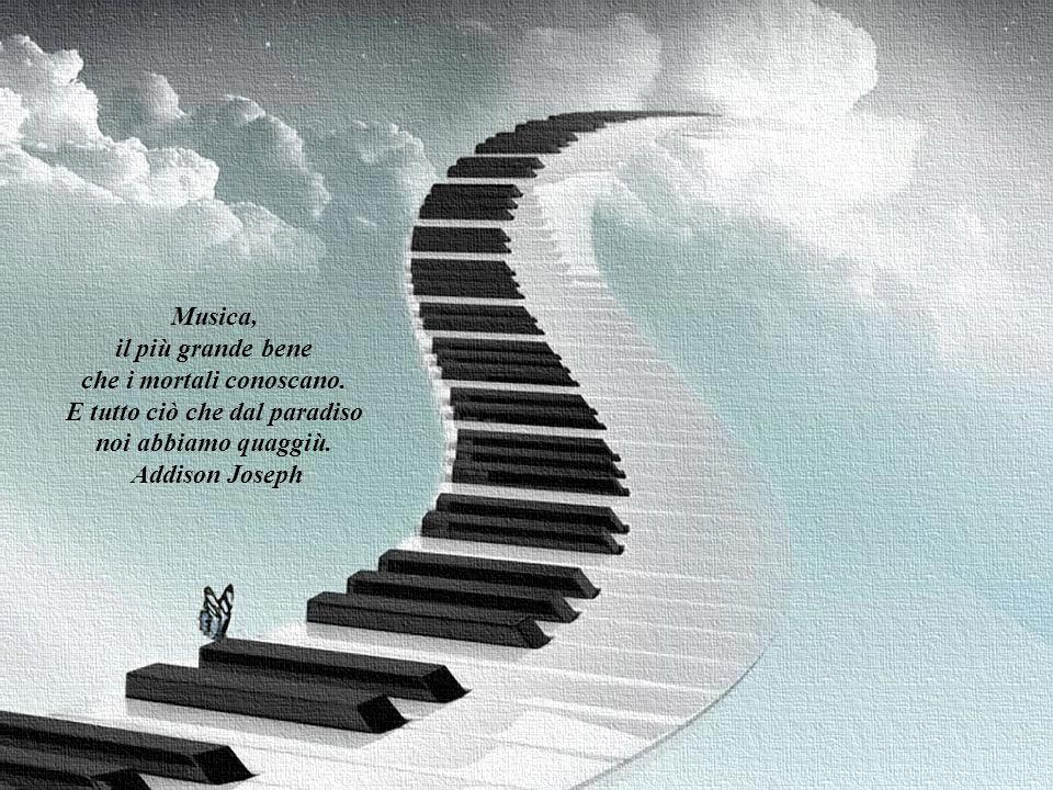 La musica è larte per un mondo migliore. La musica è l'esempio unico di ciò che si sarebbe potuto dire, se non ci fosse stata l'invenzione del linguag