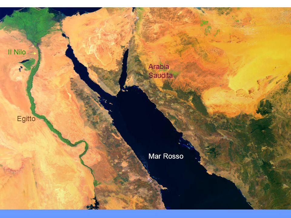 Il Mar Rosso e il corso del Nilo fino al delta