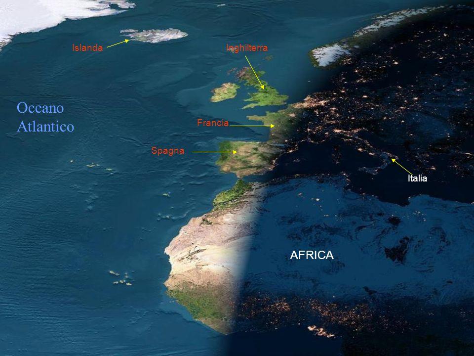 LA NOTTE CALA SULLA TERRA Guarda a Parigi e Barcellona, le luci sono già accese, mentre a Londra, Lisbona e Madrid il sole è ancora in alto. A Sud si