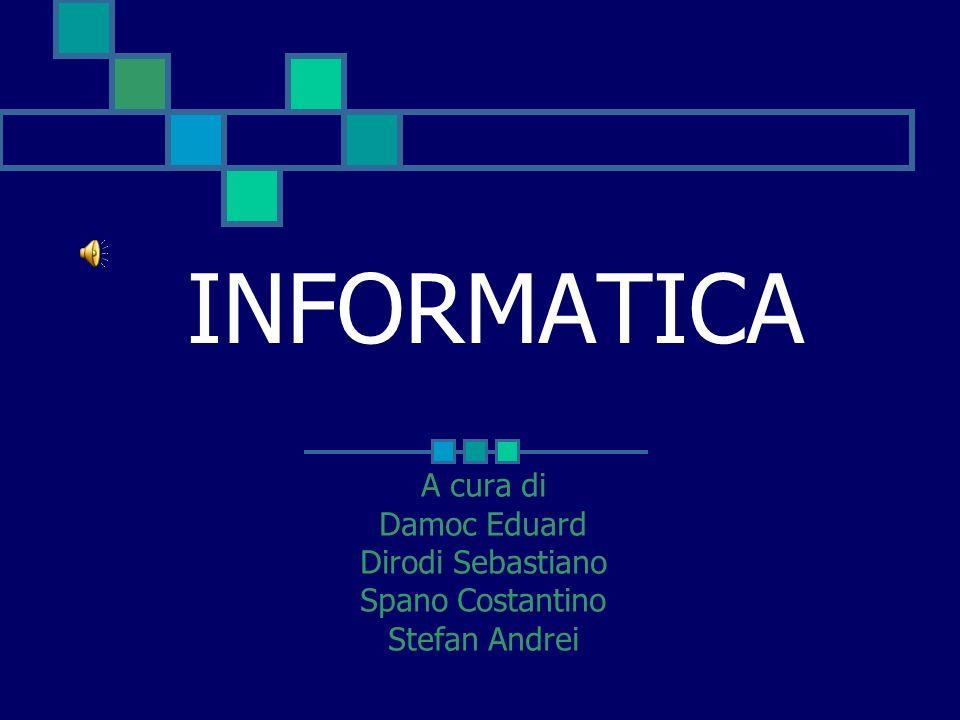 INDICE Cosè linformatica? Il perito informatico Visual C++ La robotica Sbocchi informatici
