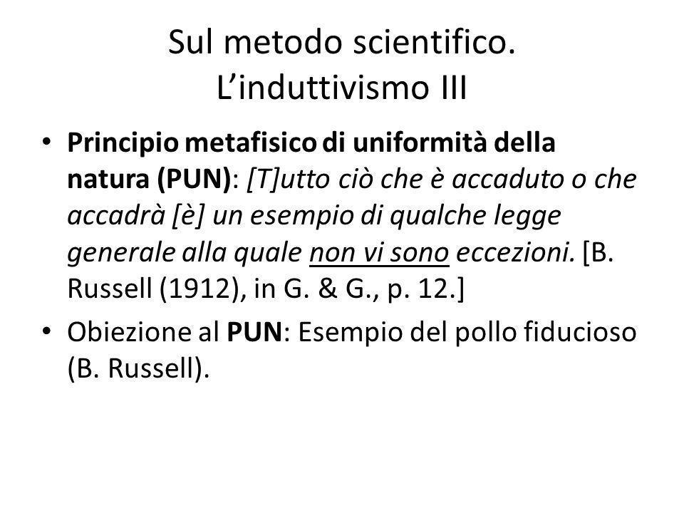 Sul metodo scientifico.