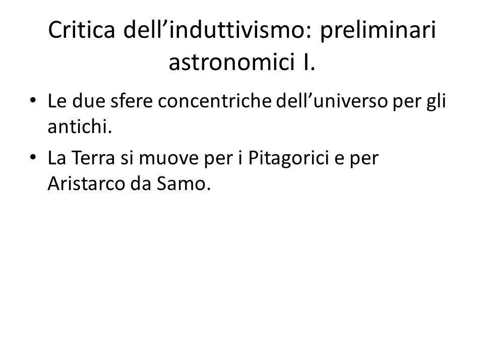 Critica dellinduttivismo: preliminari astronomici I.