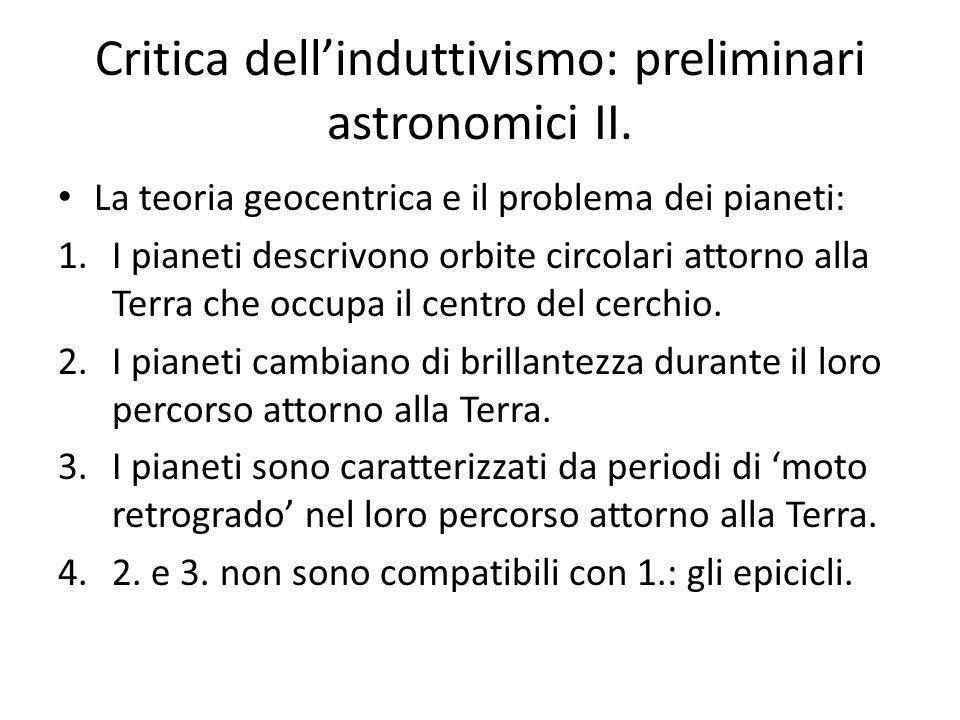 Critica dellinduttivismo: preliminari astronomici II.