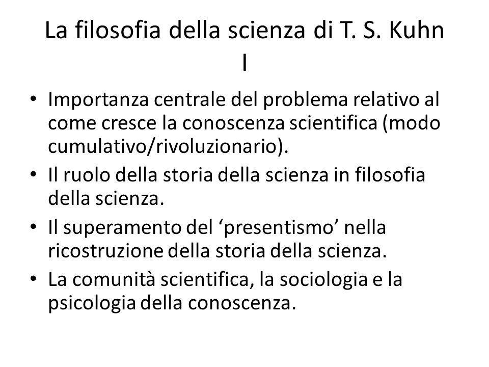 La filosofia della scienza di T.S.