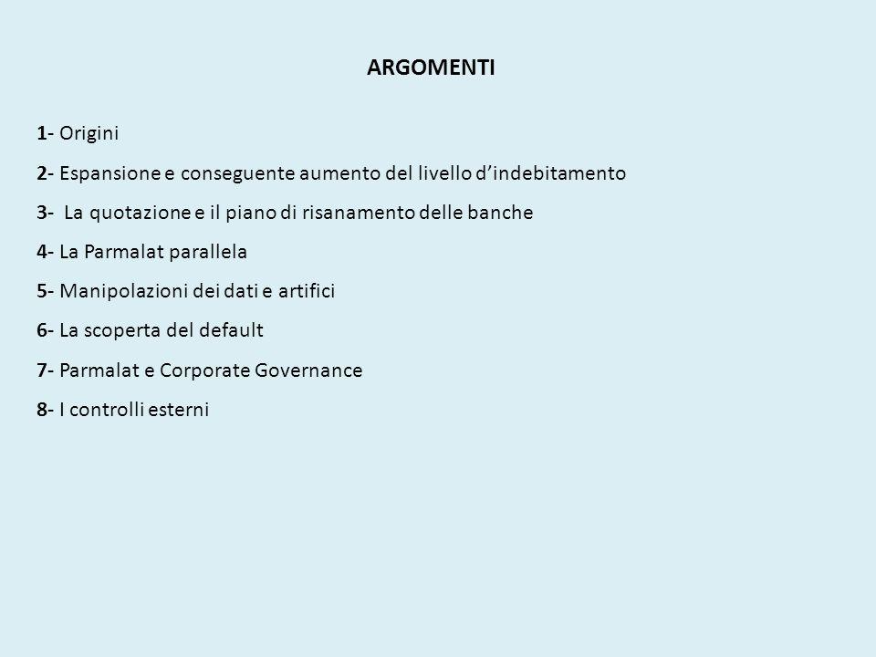 ARGOMENTI 1- Origini 2- Espansione e conseguente aumento del livello dindebitamento 3- La quotazione e il piano di risanamento delle banche 4- La Parm