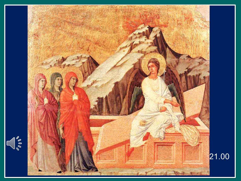 Segue poi lincontro con un Messaggero di Dio che annuncia: Gesù di Nazaret, il Crocifisso, non è qui, è risorto