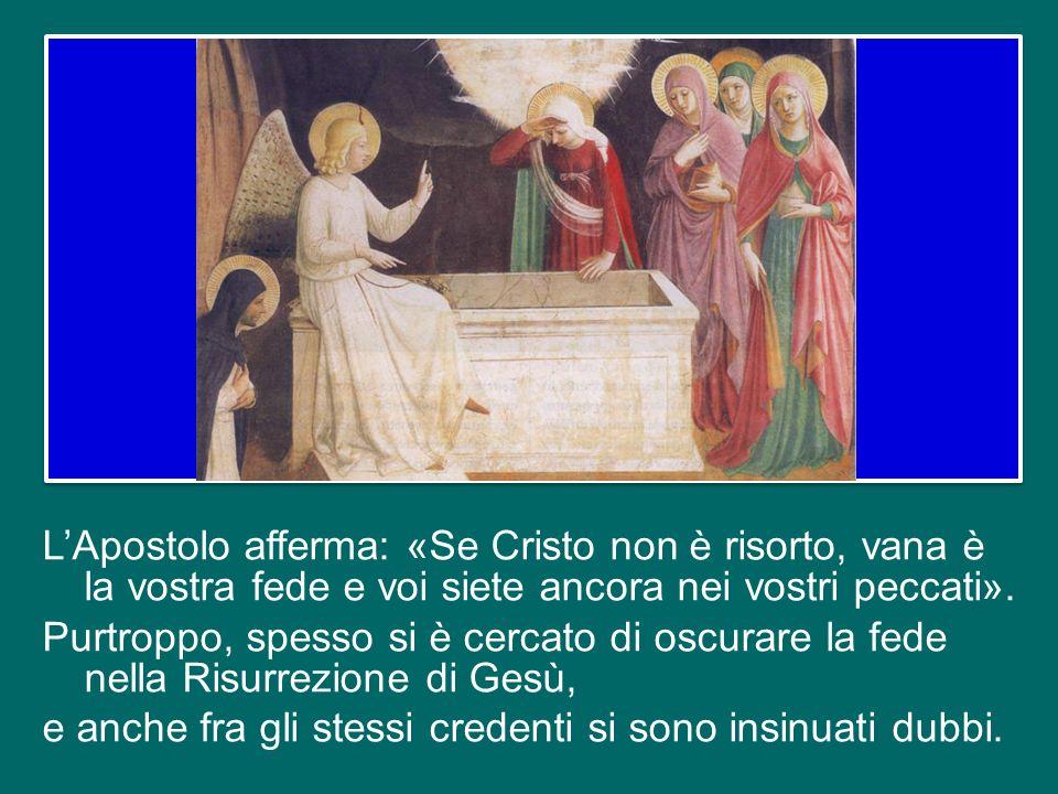 Questa breve confessione di fede annuncia proprio il Mistero Pasquale, con le prime apparizioni del Risorto a Pietro e ai Dodici: la Morte e la Risurr