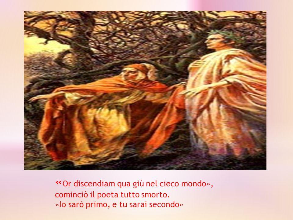 Lo buon maestro a me: «Tu non dimandi che spiriti son questi che tu vedi.