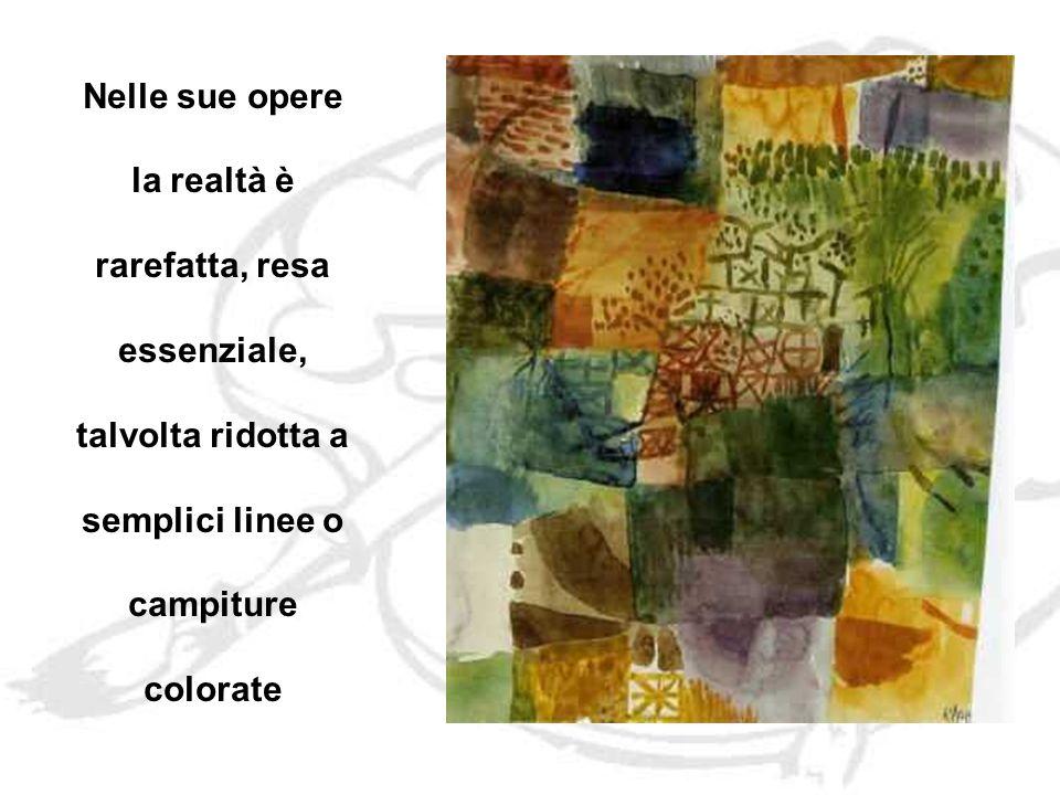 Nelle sue opere la realtà è rarefatta, resa essenziale, talvolta ridotta a semplici linee o campiture colorate