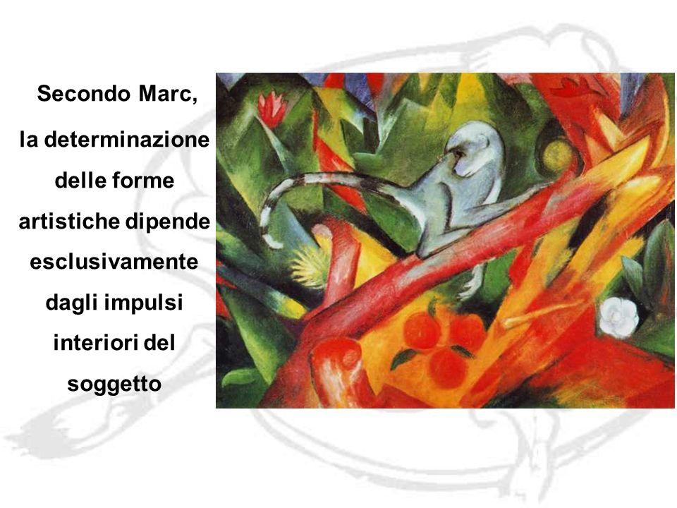 Secondo Marc, la determinazione delle forme artistiche dipende esclusivamente dagli impulsi interiori del soggetto