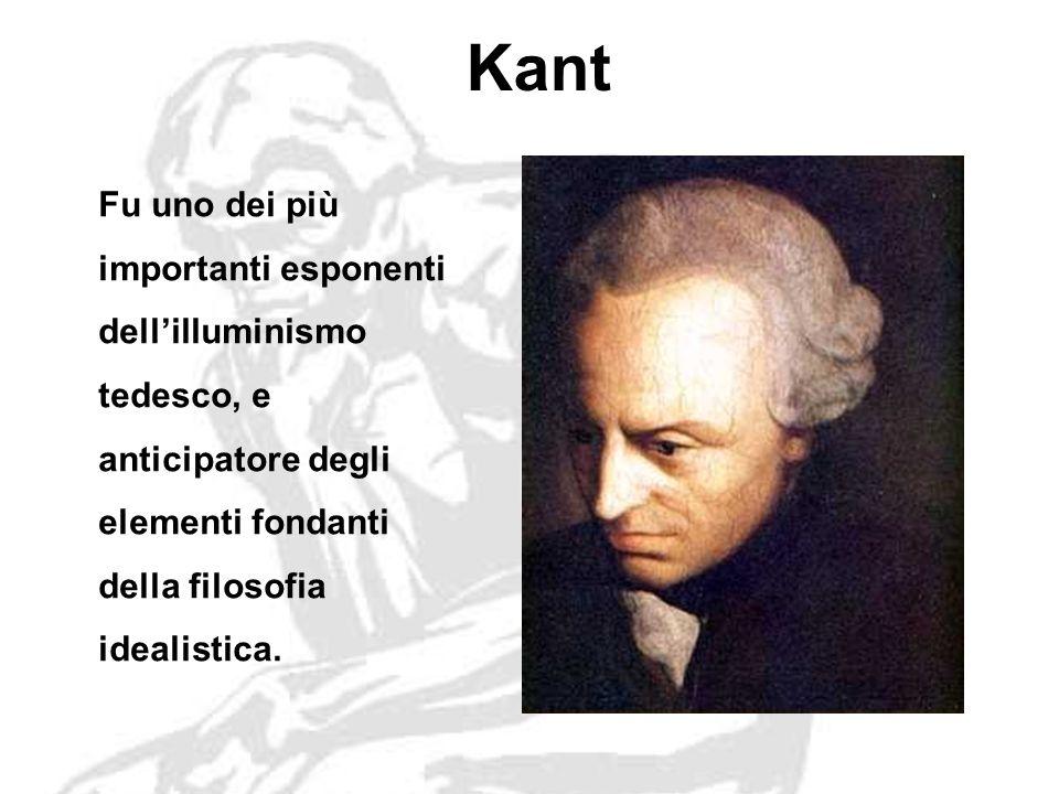 Kant Fu uno dei più importanti esponenti dellilluminismo tedesco, e anticipatore degli elementi fondanti della filosofia idealistica.