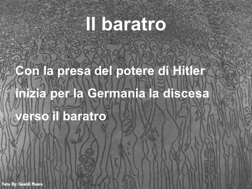 Il baratro Con la presa del potere di Hitler inizia per la Germania la discesa verso il baratro