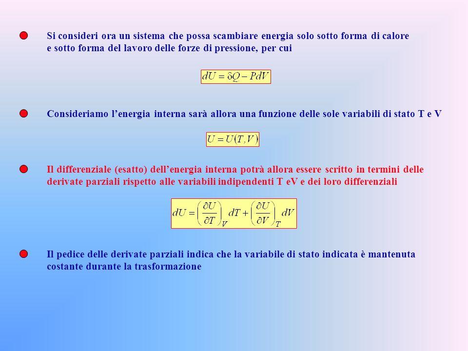 La definizione di calore specifico (la quantità di calore necessaria ad elevare di un grado la temperatura dellunità di massa), non è sempre utile: co