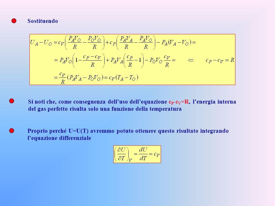 Calcoliamo adesso gli scambi energetici lungo le due trasformazioni: Per il I O Principio (in forma integrale): Se i calori specifici variano poco al