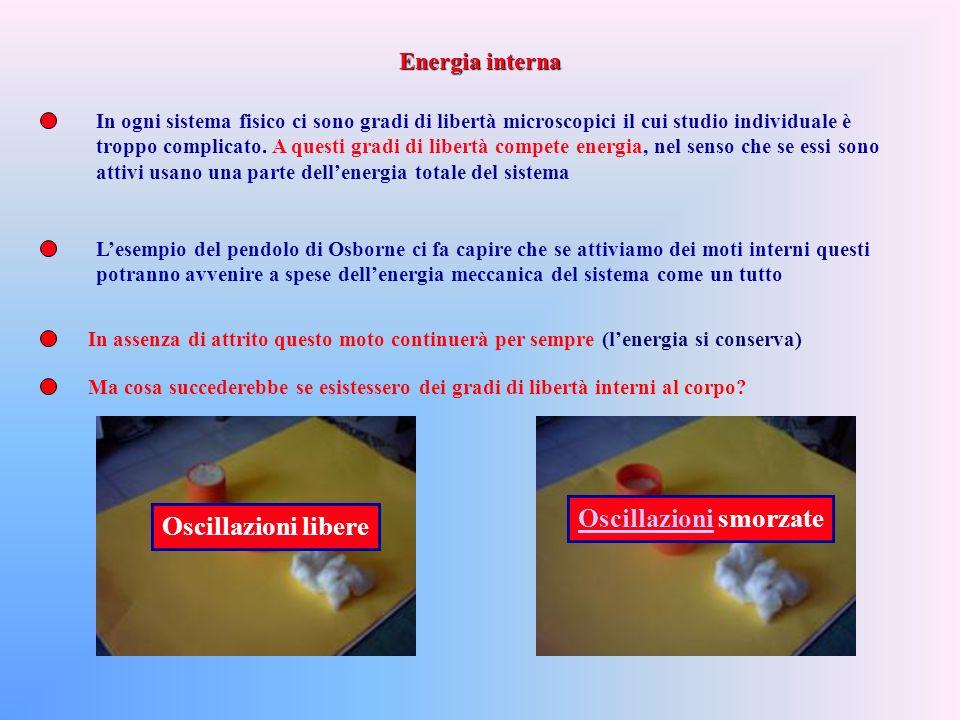 Corso di Fisica Generale Beniamino Ginatempo Dipartimento di Fisica – Università di Messina 1)Energia Interna 2)I o Principio 3)Le diverse forme di energia e le variabili coniugate 4)Calori specifici a pressione e volume costante 5)Lenergia interna del Gas perfetto 6)Equazione politropica di un gas perfetto Parte X: Il I o Principio della Termodinamica