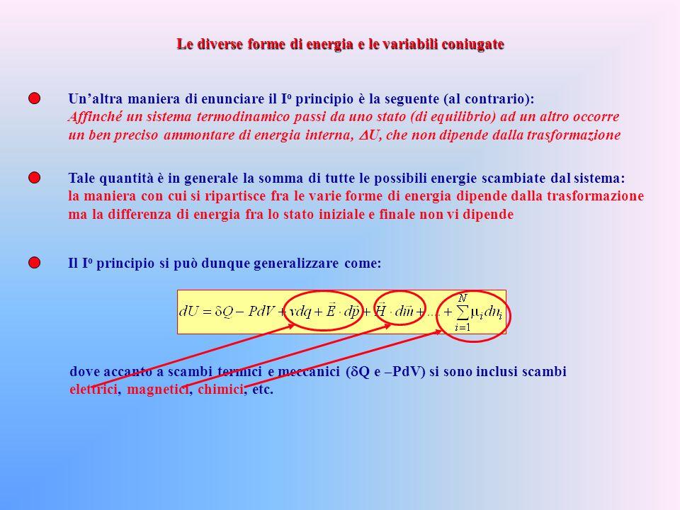 Calcoliamo adesso gli scambi energetici lungo le due trasformazioni: Per il I O Principio (in forma integrale): Se i calori specifici variano poco al variare della pressione, volume e temperatura Le temperature possono essere eliminate mediante lequazione di stato (1 mole)