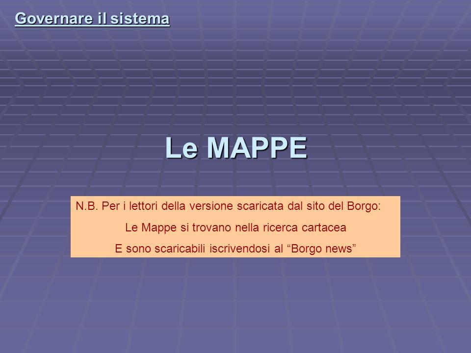 Le MAPPE Governare il sistema N.B.