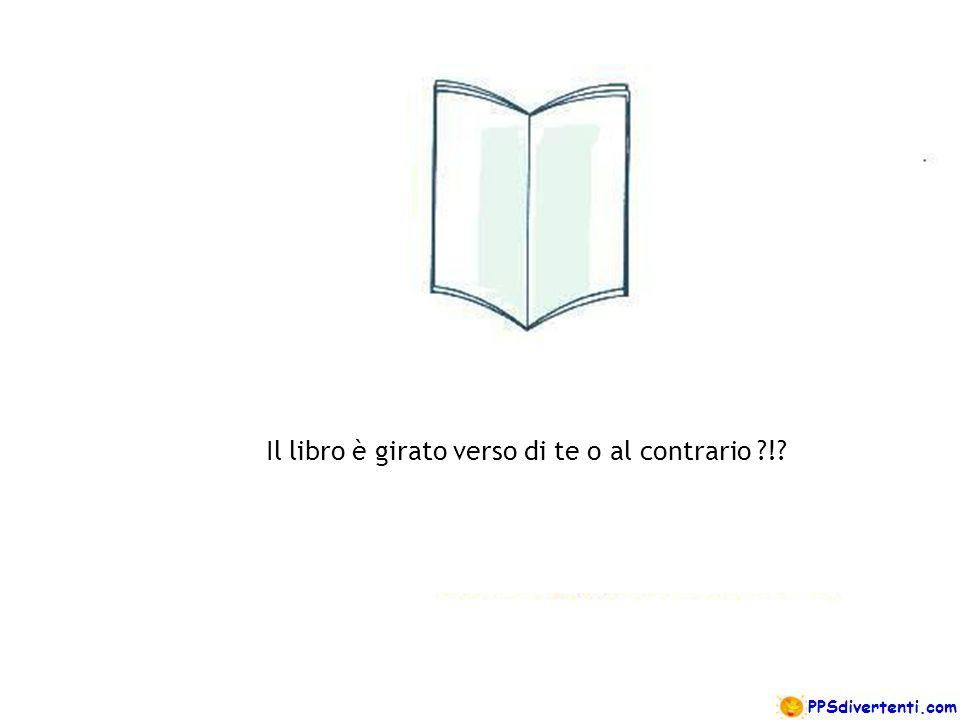 Il libro è girato verso di te o al contrario ?!?