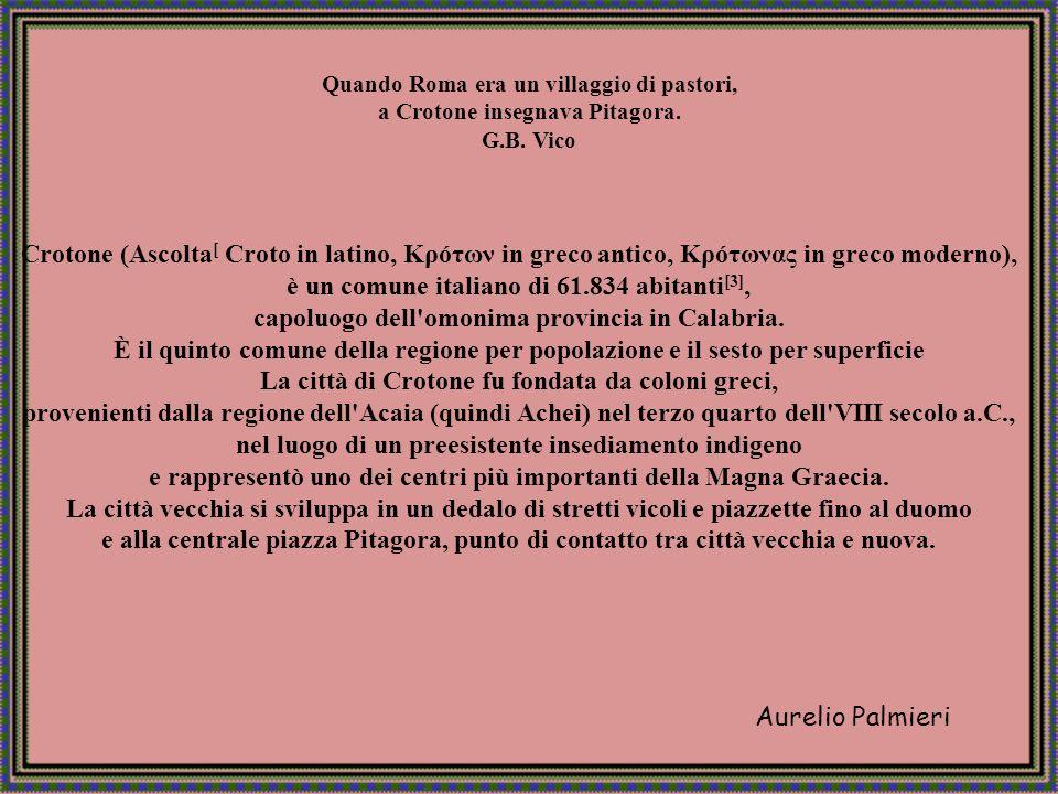 Aurelio Palmieri Crotone Lungomare