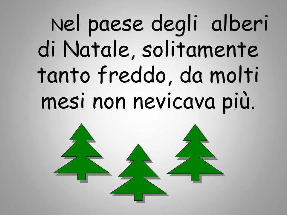 N el paese degli alberi di Natale, solitamente tanto freddo, da molti mesi non nevicava più.
