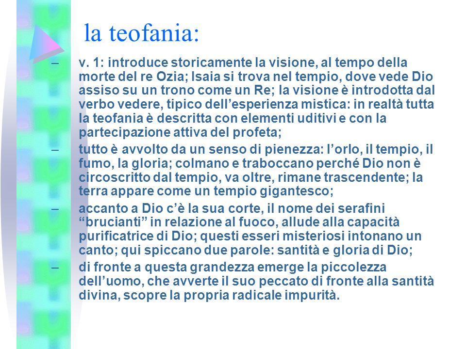 la teofania: –v.