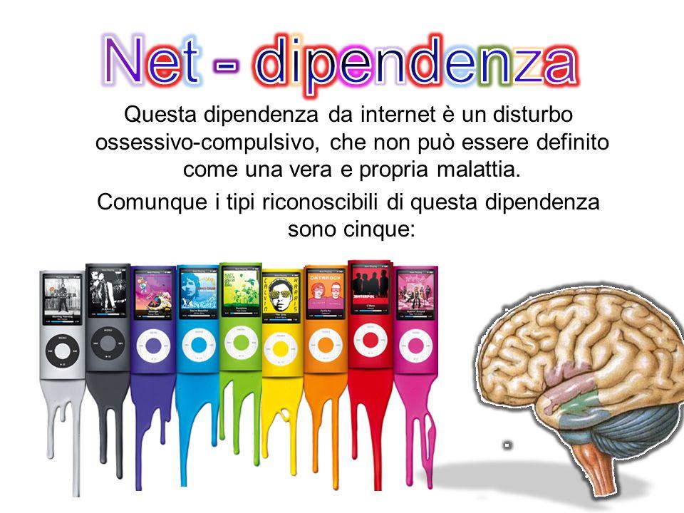 Questa dipendenza da internet è un disturbo ossessivo-compulsivo, che non può essere definito come una vera e propria malattia. Comunque i tipi ricono