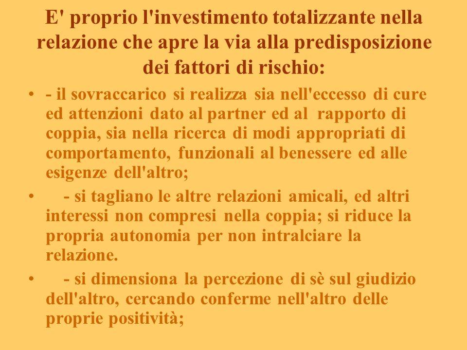 I fattori di rischio (da Reale E., 2003 Centro Prevenzione Salute Mentale Donna, Roma, modificato) I fattori di vulnerabilità divengono rischio di dis