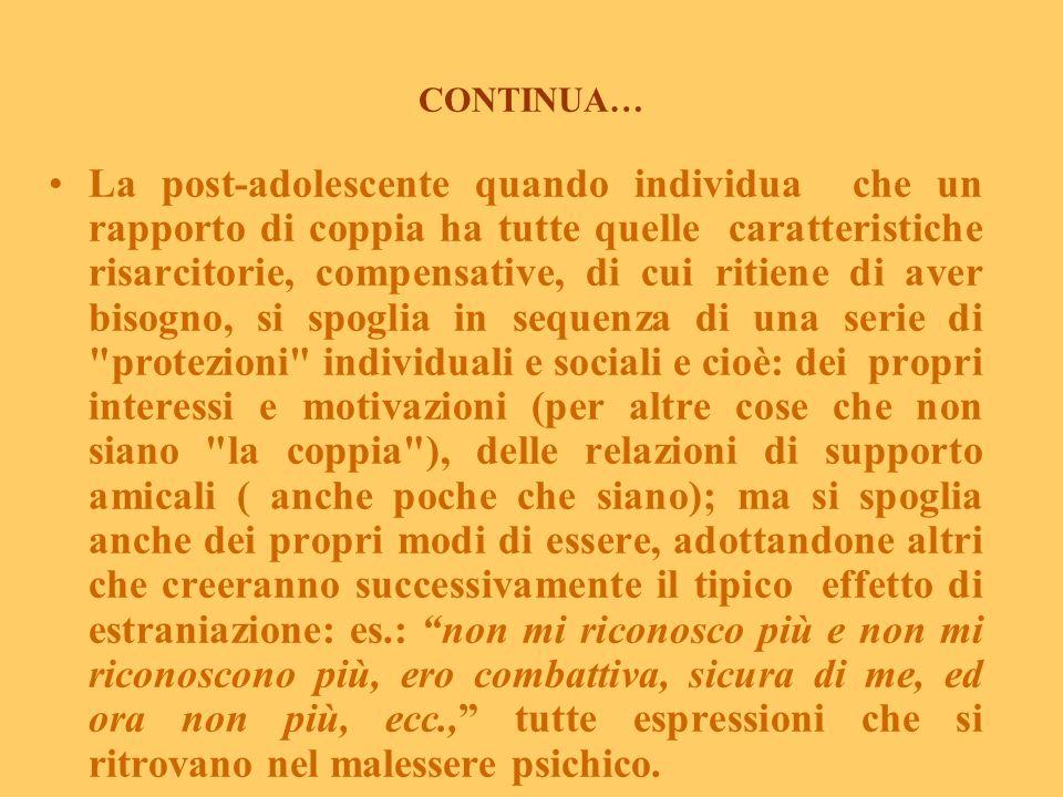 Epilogo (da Reale E., 2003 Centro Prevenzione Salute Mentale Donna, Roma, modificato) L'epilogo del percorso tra fattori di vulnerabilità, di rischio