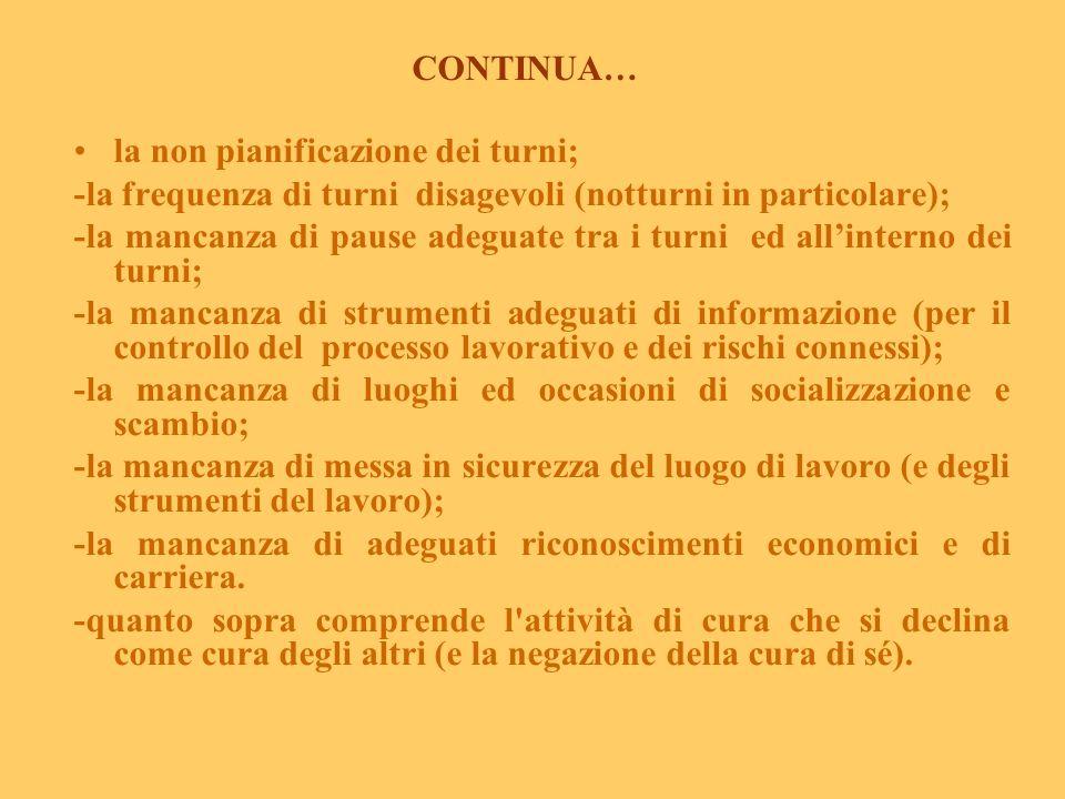 IL PRIMO FATTORE: LO STRESS DEL LAVORO DI CURA (da Reale E., 2003 Centro Prevenzione Salute Mentale Donna, Roma, modificato) Il carico familiare è il