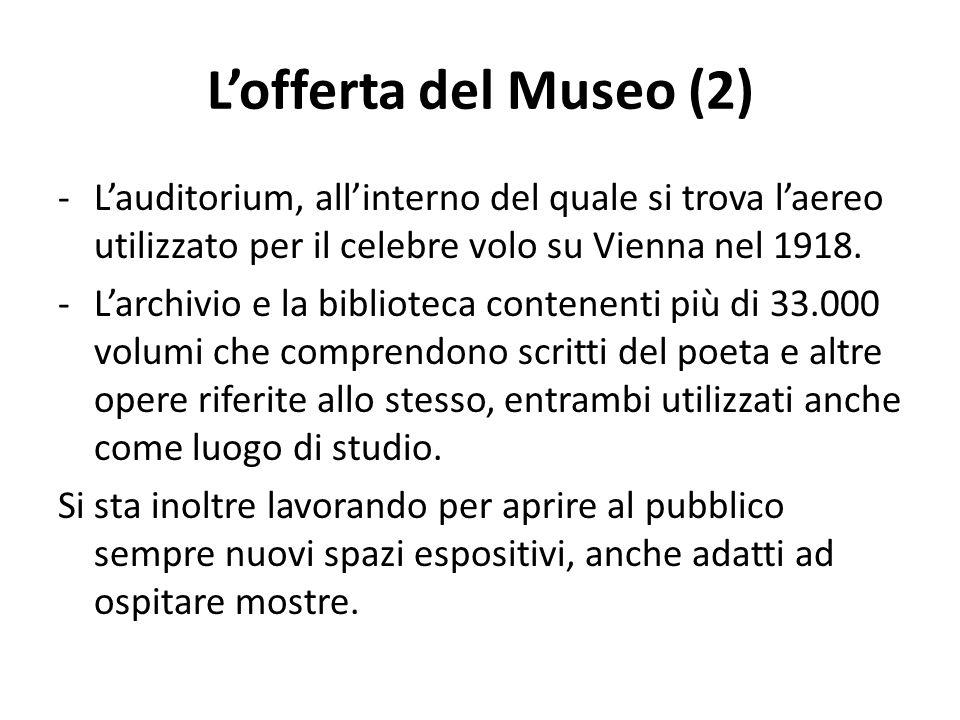 Lofferta del Museo (2) -Lauditorium, allinterno del quale si trova laereo utilizzato per il celebre volo su Vienna nel 1918.